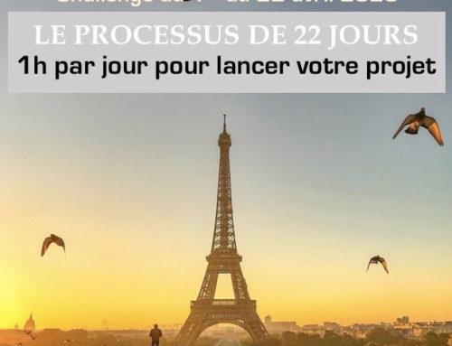 Challenge du 1er au 22 avril : je lance mon projet !